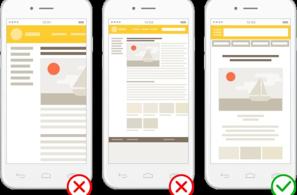 Яндекс будет наказывать сайты без мобильных версий